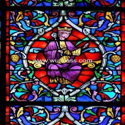 教堂玻璃w-j-8012