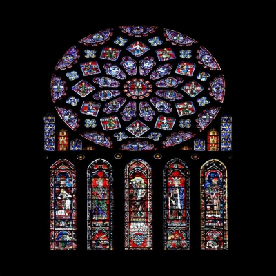 教堂玻璃w-j-8018