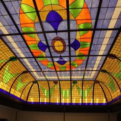 彩绘穹顶玻璃W-D-6022