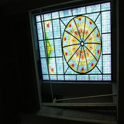 彩绘穹顶玻璃W-D-6017