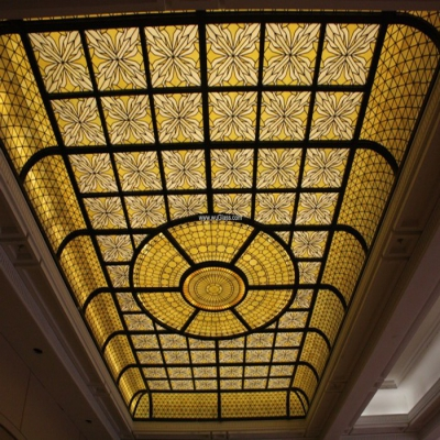 彩绘穹顶玻璃W-D-6019