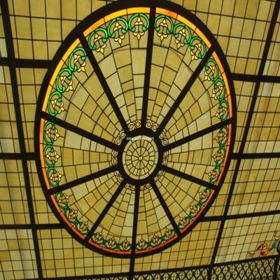 彩绘穹顶玻璃W-D-6020